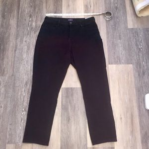 NYDJ Black Ankle Crop Legging Jeans